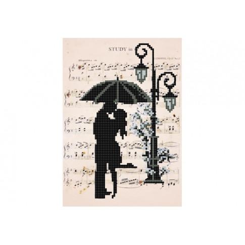 "Bead embroidery pattern ""Romantic rain"""