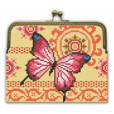"Beaded purse kit ""Pink Butterfly"""