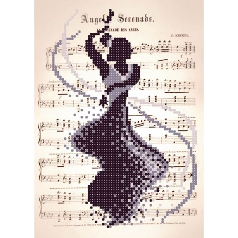 "Bead embroidery pattern ""Romantic Dance"""