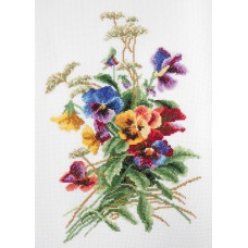 """Summer flowers"" - Cross stitch kit"