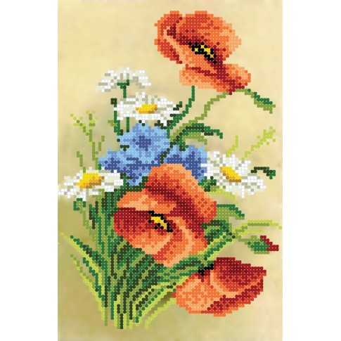 """Bead embroidery pattern """"Fragrant summer"""""""