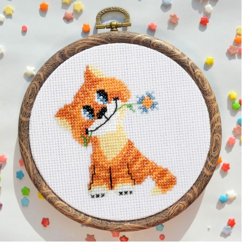 "Cross stitch kit ""Cat Vasily"""