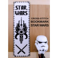 """Star Wars - Mandalorians"" - Cross stitch bookmark"