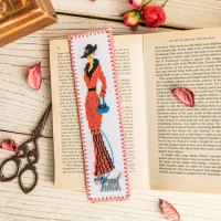 """Lady"" - Cross stitch bookmark"