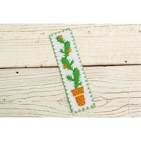 """Cross stitch bookmark """"Cactus"""""""