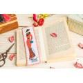 "Cross stitch bookmark ""Lady"""