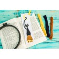 "Cross stitch bookmark pattern ""Black cat"""