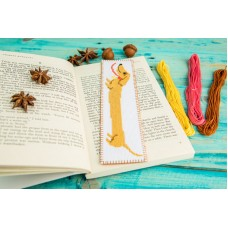 """Dachshund"" - Сross stitch bookmark"