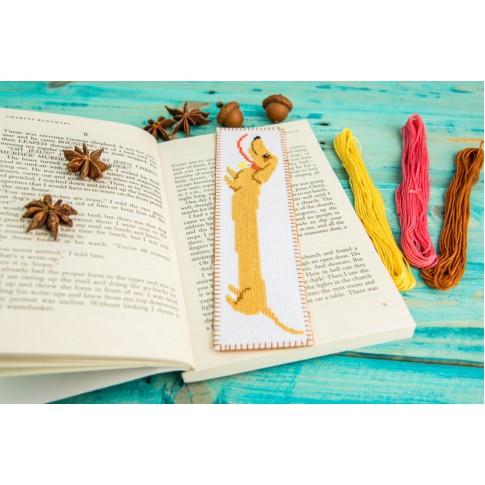 "Сross stitch bookmark ""Dachshund"""