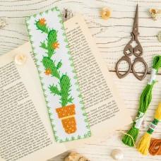 """Cactus"" - Cross stitch bookmark kit"