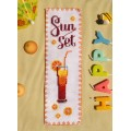 "Cross stitch bookmark ""Sunset"""