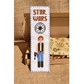 "Stamped cross stitch bookmark pattern ""Star Wars: Han Solo"""