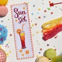 """Sunset"" - Cross stitch bookmark kit"