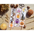 "Cross stitch bookmark ""Owls"""