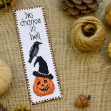 """""""No chance in hell"""" - Cross stitch bookmark kit"""