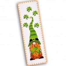"""Irish gnome"" - Cross stitch bookmark kit"