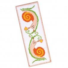 """Snails"" - Cross stitch bookmark kit"