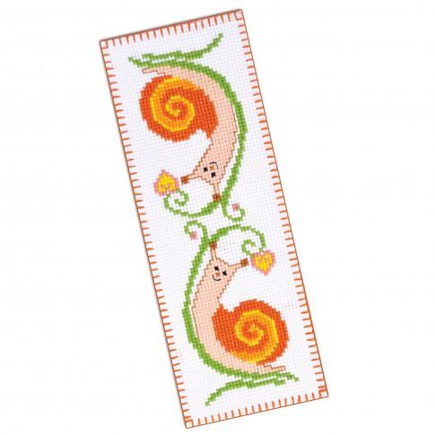 "Cross stitch bookmark kit ""Snails"""