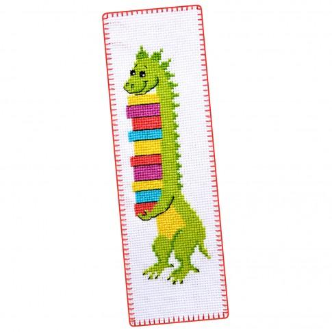 "Cross stitch bookmark kit ""Dino"""