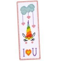 """Rainbow Unicorn"" - Cross stitch bookmark kit"