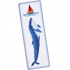 """Blue whale"" - Cross stitch bookmark kit"