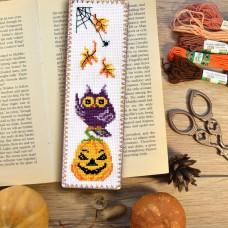 """Halloween Owl"" - Cross stitch bookmark kit"