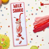 """Milk Shake"" - Cross stitch bookmark kit"