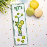 """Mojito"" - Cross stitch bookmark kit"