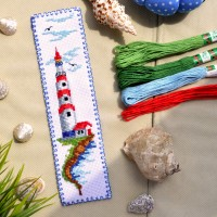 """Lighthouse"" - Cross stitch bookmark kit"