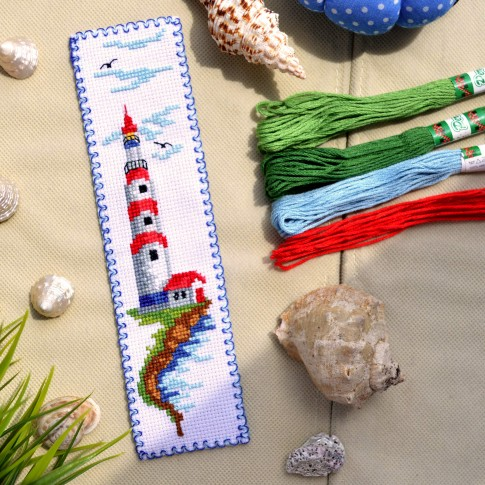 "Cross stitch bookmark kit ""Lighthouse"""