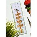 "Cross stitch bookmark kit ""Beach signs"""