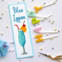 """Blue Lagoon"" - Cross stitch bookmark kit"