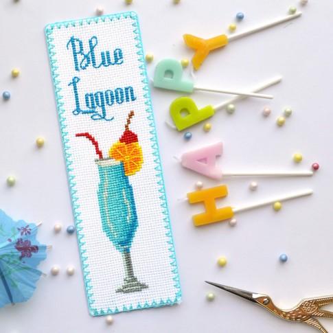 "Cross stitch bookmark kit ""Blue Lagoon"""