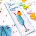 "Cross stitch bookmark kit ""Blue Lagoon"""