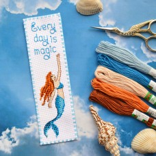 """Every day is magic!"" - Cross stitch bookmark kit"