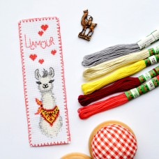 """Llamour"" - Cross stitch bookmark kit"