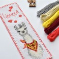 "Cross stitch bookmark kit ""Llamour"""