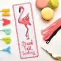 "Cross stitch bookmark kit ""Flamingo"""