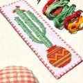 "Cross stitch bookmark kit ""Cowboy Cactus"""