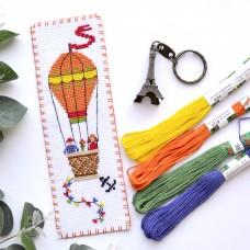 """Air Balloon"" - Cross stitch bookmark kit"