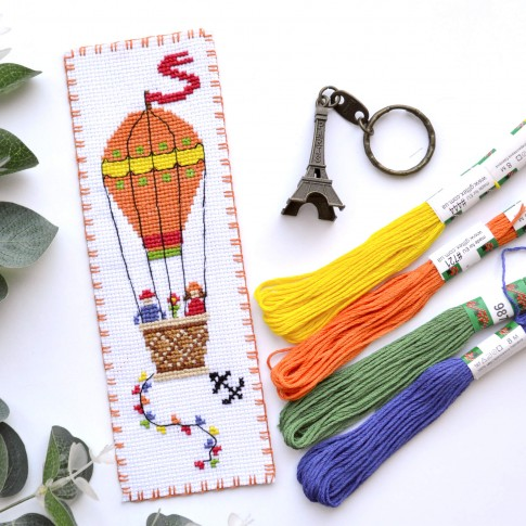 "Cross stitch bookmark kit ""Air Balloon"""