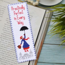 """""""Mary Poppins: Practically perfect in every way"""" - Cross stitch bookmark kit"""