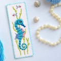 "Cross stitch bookmark kit ""Seahorse"""