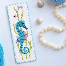 """Seahorse"" - Cross stitch bookmark kit"
