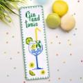 "Cross stitch bookmark kit ""Gin and tonic"""