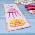 "Cross stitch bookmark kit ""Jellyfish"""