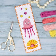 """Jellyfish"" - Cross stitch bookmark kit"