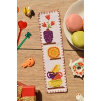 """Kitchen"" - Cross stitch bookmark"