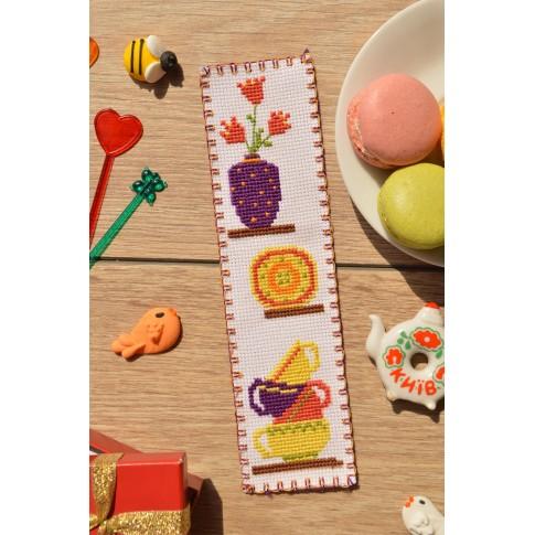 """Cross stitch bookmark """"Kitchen"""""""