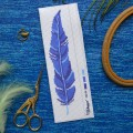 "Cross stitch bookmark pattern ""Blue feather"""